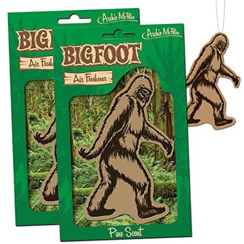 BIGFOOT Air Freshener - 2 Pack Pine Scent - For Car RV Trailer Tent - Best Yeti Sasquatch Bigfoot...