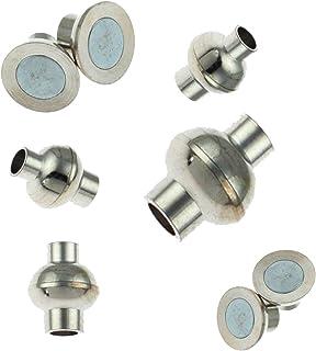 10 x el extremo de la correa de pulsera cuero tapas DIY fabricación joyería plata Ø 7 mm