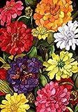 Toland - <span class='highlight'><span class='highlight'>Zippy</span></span> Zinnias - Decorative Flower Spring Colorful Multicolor Floral USA-Produced House Flag