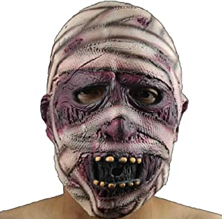 LUHUAISH AU Halloween Horror Mask Green Latex Mask Devil Mummy Grimace Mask