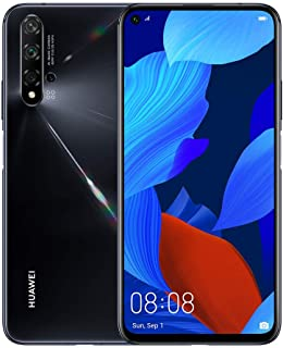 "Huawei Nova 5T (128GB, 8GB) 6.26"" LCD, Kirin 980, 48MP Quad Camera, 22.5W Fast Charge, Dual SIM GSM Unlocked Global 4G LTE International Model YAL-L21 (Black)"