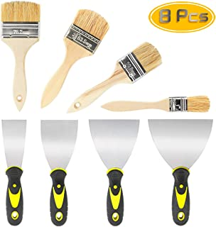 Nexxxi 4 Pack Drywall Taping Knife - Hard Wall Putty Spatula Blade Set, 4 Pcs Premium Paint Brushes,Home Tools