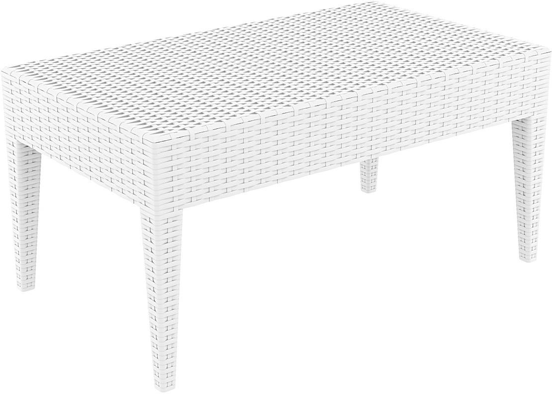 resol Mesa Auxiliar Rectangular 92x53 de jardín Exterior Ipanema - Color Blanco: Amazon.es: Jardín