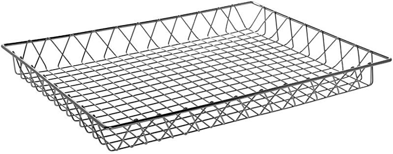 HUBERT Wire Display Basket Rectangular Chrome Plated Pastry Basket Bakery Tray 24 L X 18 W X 2 H
