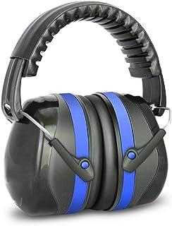 Earest 防音イヤーマフ 遮音値32dB 聴覚保護 ANSI S3.19&CE EN352-1認証済み 超弾力性ヘッドバンド 軽量 聴覚過敏・射撃 ・仕事・勉強・睡眠などに適用 ブルー