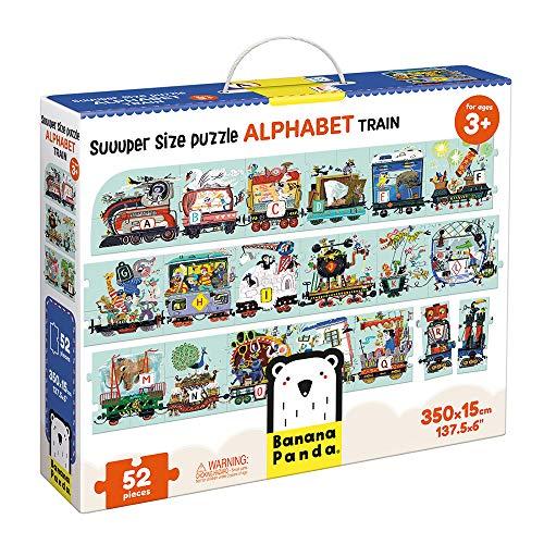 Banana Panda - Suuuper Size Puzzle Alphabet Train - Riesenpuzzle für Kinder ab 3 Jahren (Englisch)