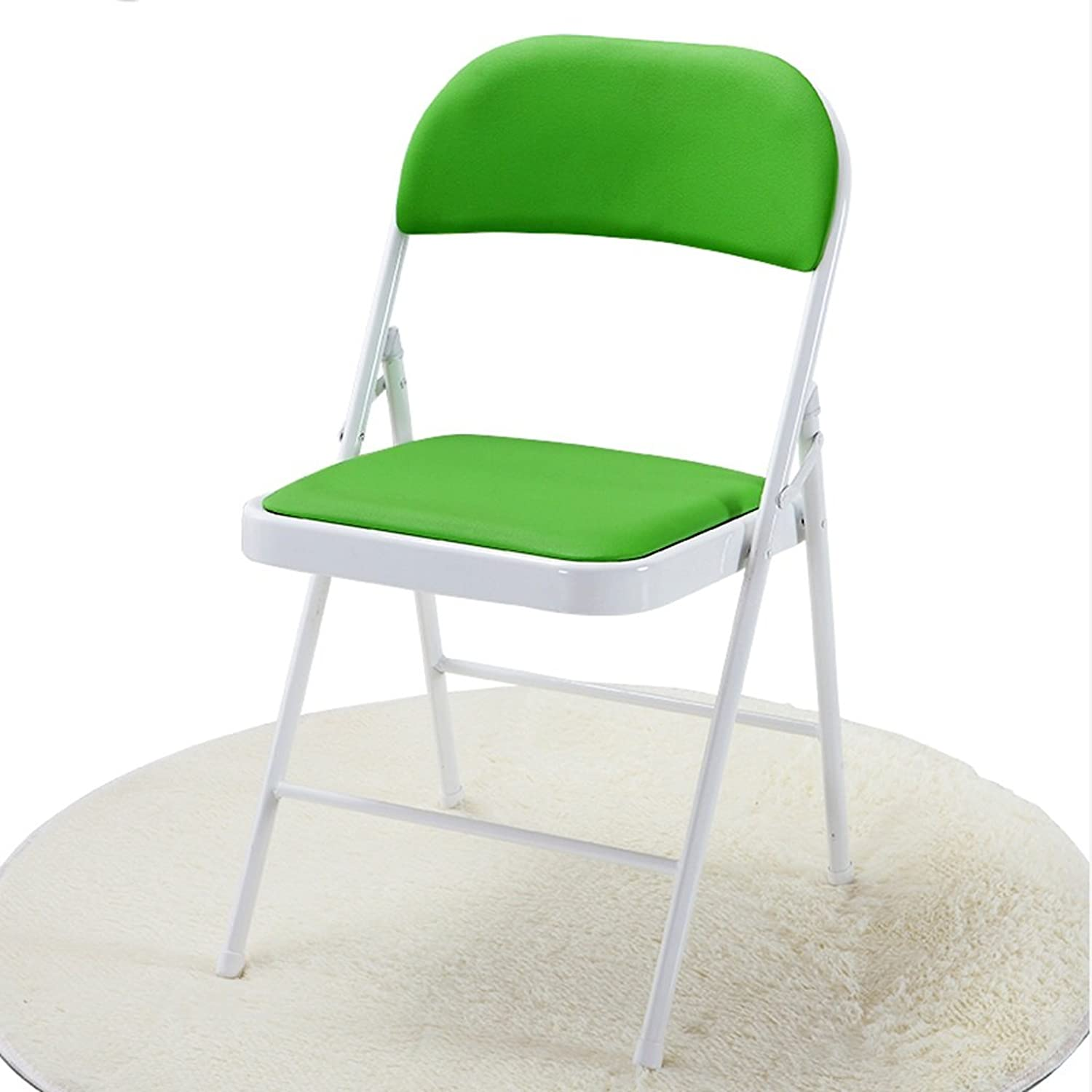 Chair Conference Folding Chair Home Computer Casual Chair Simple Office Chair Stool Stylish Dining Chair (color   Green)