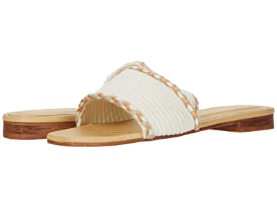 KAANAS Jamaica Handwoven Sandals with Braid (Ivory) Women