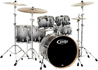 PDP by DW Concept Maple by DW 6-Piece Shell Pack Silver to Black Fade