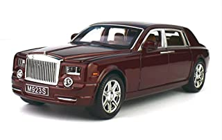 Greshare Model car, 1:24 Rolls-Royce Phantom Diecast Sound & Light & Pull Back Model Toy Car Wine Red New in Box