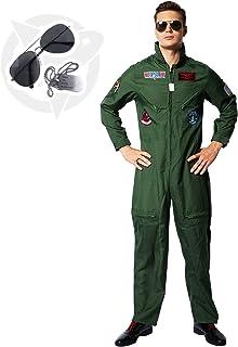 Adulto Costume Da Pilota Da Combattimento 3 Taglie Costume Festa Militare Air Force