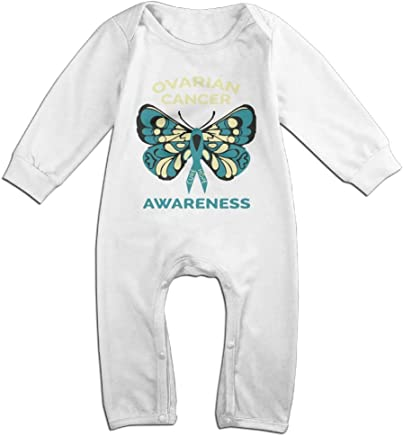 Mri-le1 Newborn Baby Coverall Ovarian Cancer Awareness Kid Pajamas