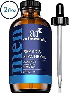 ArtNaturals Organic Beard Oil Conditioner for Men - 100% Pure Unscented - Beard and Mustache Growth w/ Argan & Jojoba Oil ...