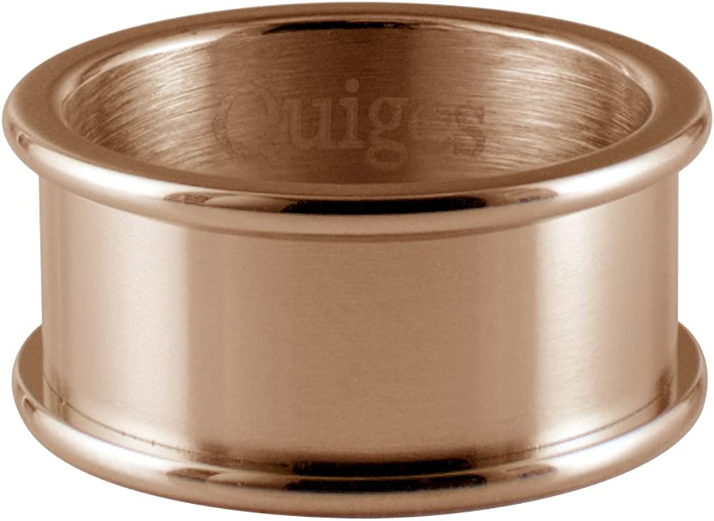 Quiges Stainless Steel Rose Gold Base Ring 8mm Height for Stacking Ring Collection