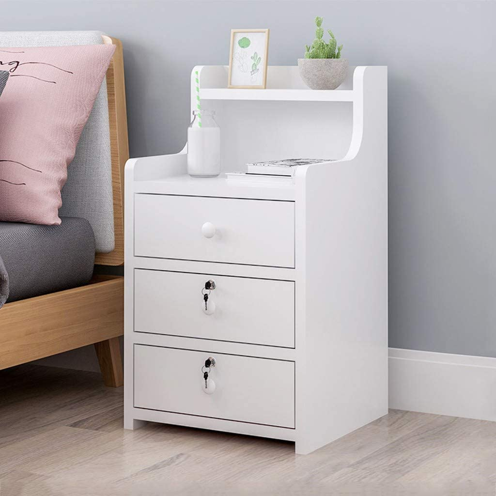 Simple Bedside Table Limited time sale White Bedroom 3 Super Special SALE held Dr Storage w