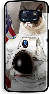 grumpy cat like astronaut for Samsung Galaxy S6 Black case
