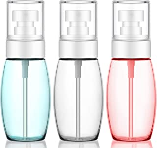 3pcs 2oz Spray Bottles Travel Size, Segbeauty 60ml TSA-approved Fine Mist Plastic Spray Bottle, Leak-proof Refillable Airp...