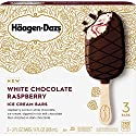 Haagen-Dazs White Chocolate Raspberry Ice Cream Bars, 3 Count (Frozen)