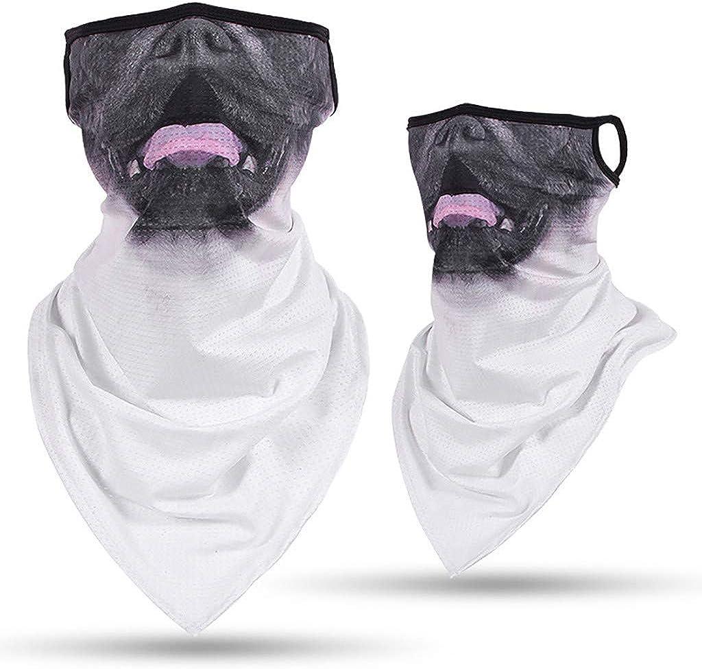 Stoota 3D Animal Print Face Mask, Rave Bandana, Neck Gaiter, Scarf, Summer Balaclava for Dust Wind UV Protection