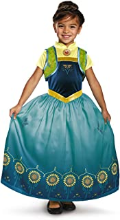 Anna Frozen Fever Deluxe Costume, One Color, Small (4-6)