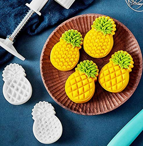 50g Cookie 3D Stamps PINEAPPLE SHAPED, Thickness Adjustable, Moon Cake Mold Taiwanese Pineapple Cake Bath bombs lotus Desert