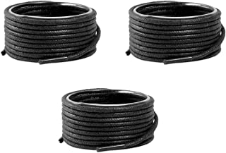 Lify Waxed Cotton Extra Thin Dress Round Shoelaces for formal shoes, Colors:- Black, Teak, Tan & Coffee