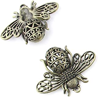 5 pieces Anti-Brass Fashion Jewelry Making Charms 16939 Hollow Bee Wholesale Supplies Pendant Craft DIY Vintage Alloys Necklace Bulk Supply Findings Loose