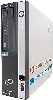 【Amazon.co.jp 限定】富士通 デスクトップPC D582/MS Office 2019/Win 10/Core i3-3220/HDMI/WIFI/DVD/8GB/(整備済み品) (HDD 500GB)