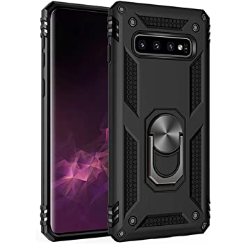 Samsung Galaxy S10 Plus Case 6.4 Inch (2019),Amuoc [ Military Grade ] 15ft. Drop Tested Protective Case | Kickstand | Compatible with Samsung Galaxy S10+-Black