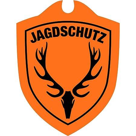 Waidmannsbruecke Jagdschutz Hubertushirsch Jagd Auto Schild Signal Orange 1 Sz Sport Freizeit