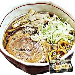 富山ブラックラーメン誠や12食入(濃厚しょうゆスープ・極太ちぢれ麺)【超人気ご当地ラーメン】