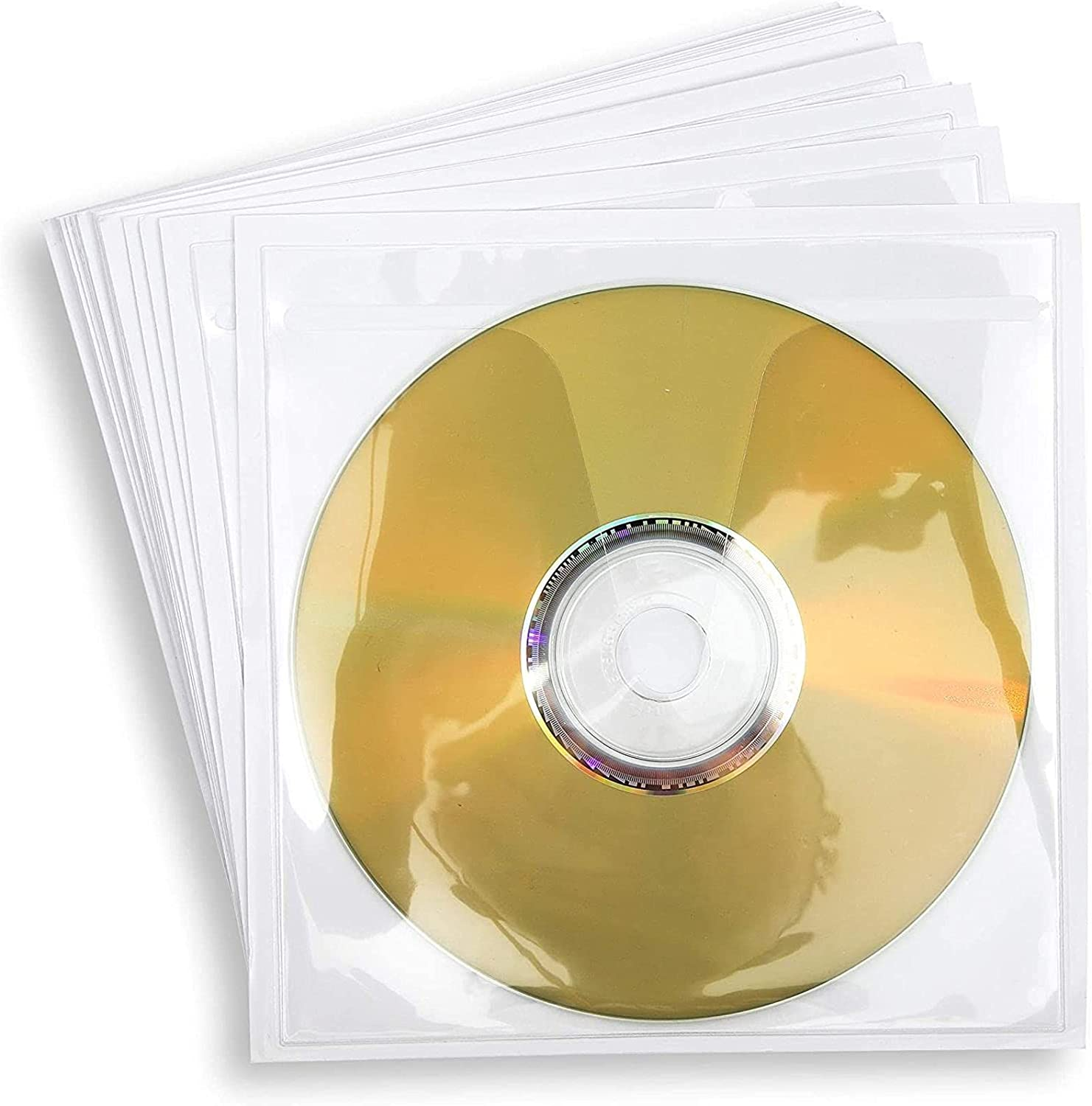 Clear Self-Adhesive CD DVD Storage Sleeve Challenge the lowest price of Japan ☆ Ranking TOP12 Pockets in x 4.93 5