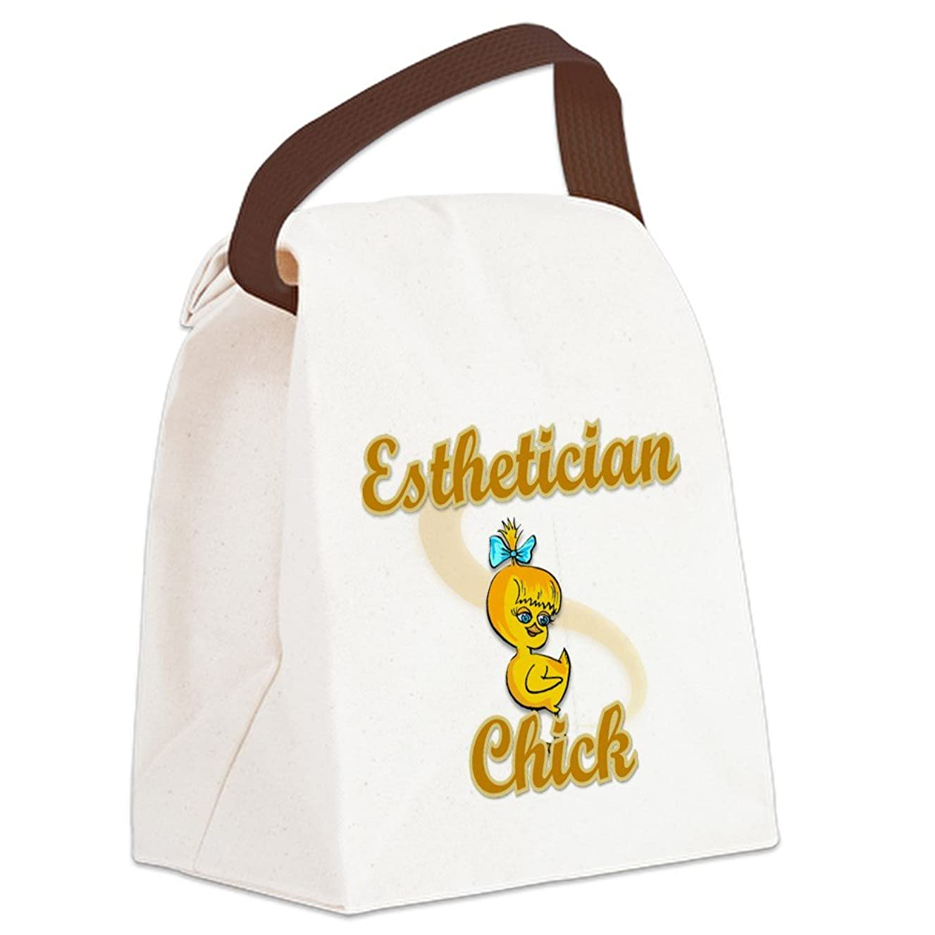 CafePress - Esthetician Chick #2 Canvas Lunch Bag - Canvas Lunch Bag with Strap Handle