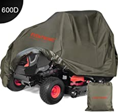 Eventronic Riding Lawn Mower Cover, Riding Lawn Tractor Cover 600D Heavy Duty Durable (L76 xW47 xH47)-Green