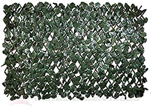 Windscreen4less Artificial Leaf Faux Ivy Expandable/Stretchable Privacy Fence Screen (Double Sided Leaves)Double Sides Leaves