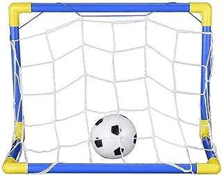SODIAL Indoor Mini Folding Football Soccer Ball Goal Post Net Set+Pump Kids Sport Outdoor Home Game Toy Child Birthday Gift Plastic