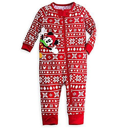 Shop Mickey Mouse Urlaub Stretchie SCHL?fer Baby 12-18 Monate (12-18m) rot