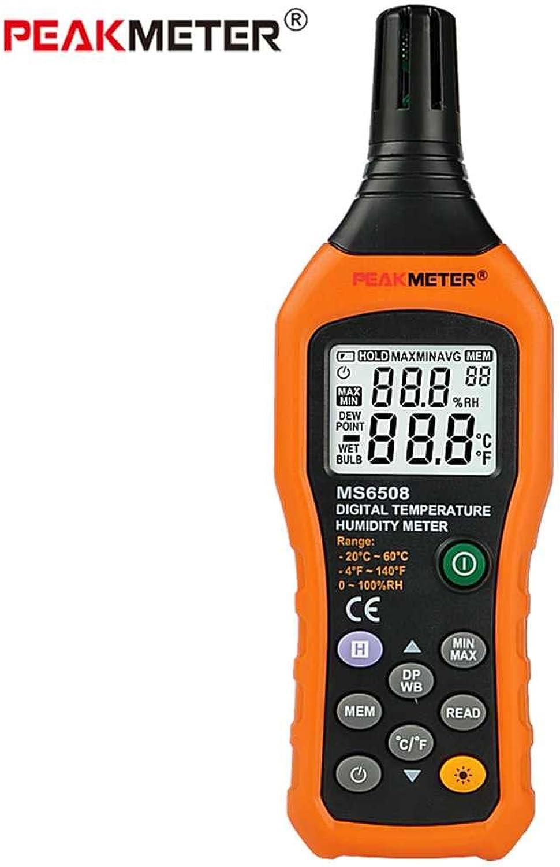 Morza PEAKMETER MS6508 Digital Hygrometer Thermometer Thermometer Thermometer Elektronische Taupunkt Feuchtkugeltemperatur und Feuchtigkeitsmessgerät B07L3VZDFR | Spielen Sie das Beste  ce1d2f