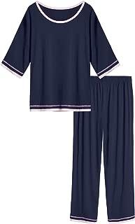 Women's Short Sleeve Pajamas Set Long Sleepwear Pants Pjs Sets S-4X