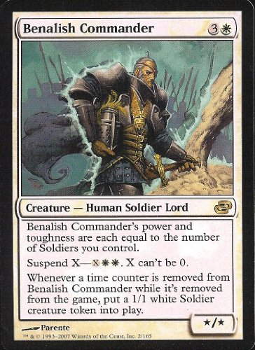 Magic The Gathering - Benalish Commander - Comandante de Benalia - Planar Chaos - Foil