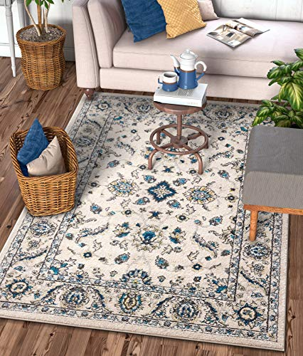 Well Woven Sydney Vintage Florence Ivory Traditional Oriental Distressed Area Rug 3'3