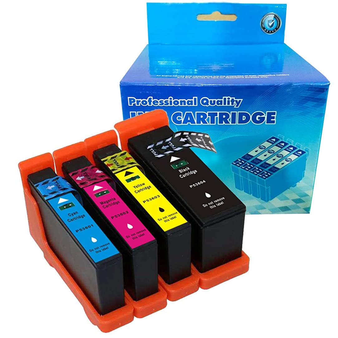 B-T Compatible Ink Cartridge Replacement for Primera 53606 53601 53602 53603 53604 Compatible with Bravo?4100?Series (1 Black, 1 Cyan, 1 Magenta, 1 Yellow,) 4 Pack