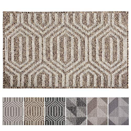 """Indoor Doormat Front Door Mat Non Slip Rubber Backing Absorbent Mud and Snow Magic Inside Dirts Trapper Mats Low-Profile Entrance Rug Machine Washable - 20""""x 32"""", Camel"""