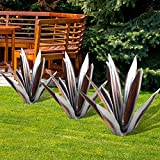 XeinGanpre – 1 Packung Metall-Agave-Pflanze, rustikale Skulptur, Outdoor-Statue, Garten-Dekoration, Statue, Heimdekoration, Gartenfiguren, Hofpfähle, Rasen-Ornamente