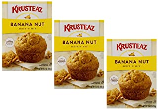 Krusteaz Banana Nut Muffin Mix, 15.4-Ounce Boxes (3 pack)