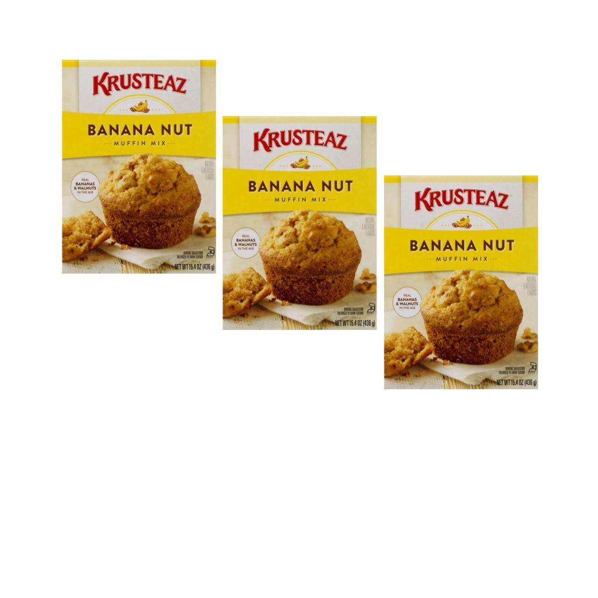 Krusteaz Banana Nut Muffin Mix 3 Large special price pack Dealing full price reduction 15.4-Ounce Boxes
