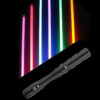 100CM LightSaber مع RGB قابل للتعديل أدى ضوء الألوان، مقبض معدني السيف ضوء، USB قابلة للشحن تربيات للبالغين والأطفال تأثير...