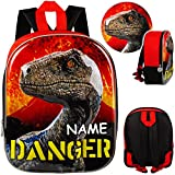 alles-meine.de GmbH 3D Effekt _ Kinder Rucksack - Jurassic World - Dinosaurier - inkl. Name - Tasche...
