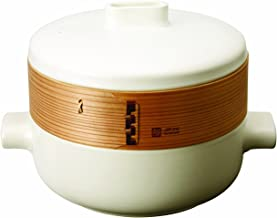 JIA Inc. Steamer Set - Large Set (Ceramic Steamer Pot and Lid + Cedar Wood Basket)