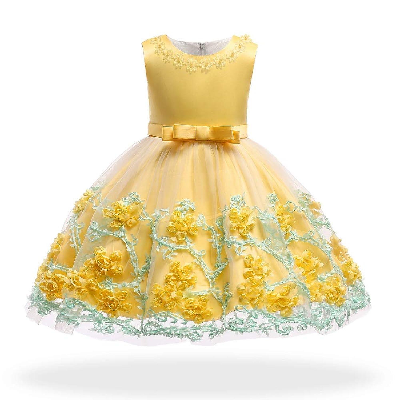 ガールズドレス 女の子ドレス ワンピース 蝶結びリボン お宮参り 入園式 結婚式 七五三 卒業式 3-10歳